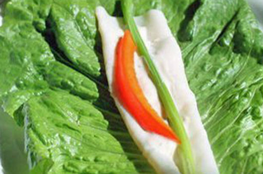 Healthy Turkey Lettuce Roll Up Recipe